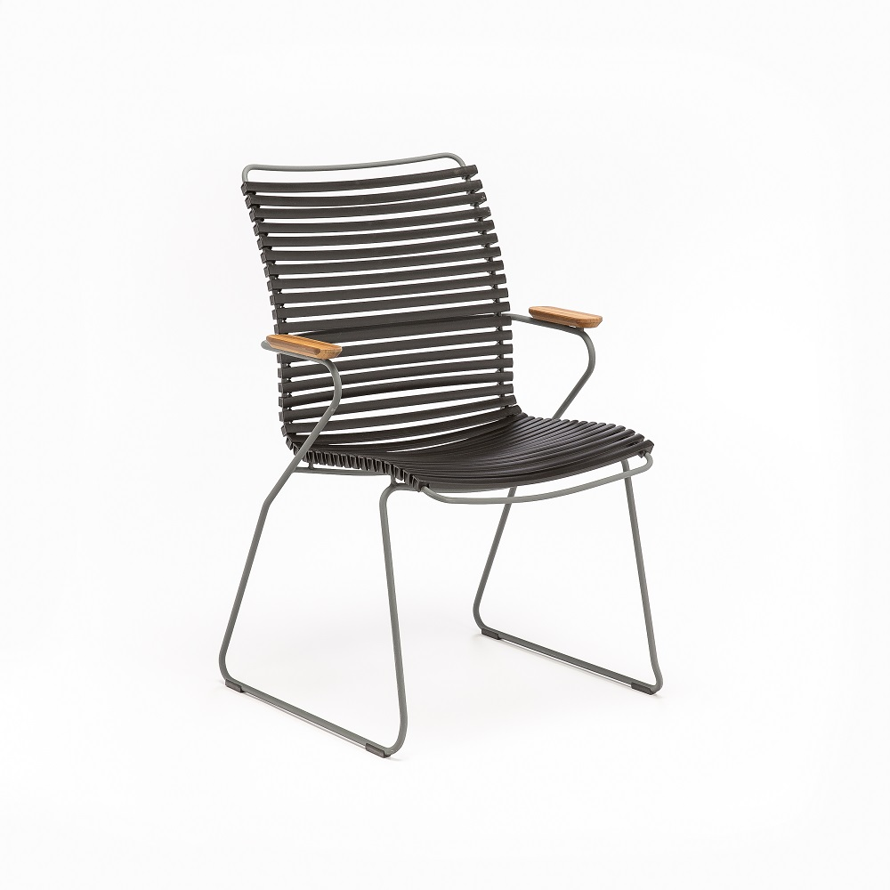 DINING CHAIR TALL BACK // Black