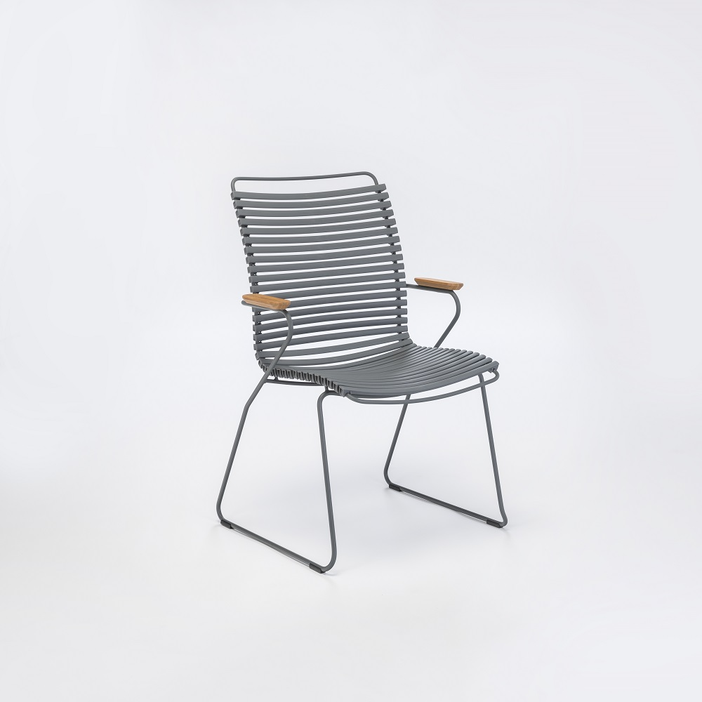 DINING CHAIR TALL BACK // Dark Gray