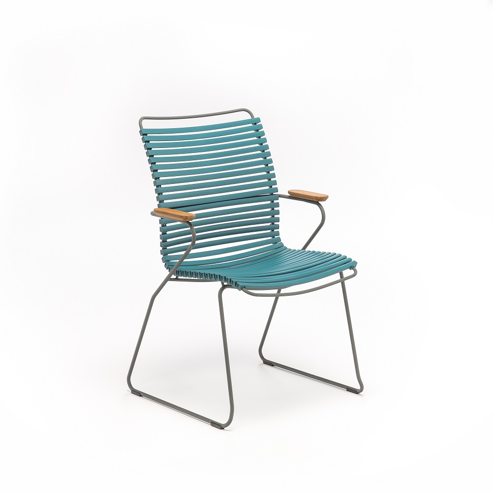 DINING CHAIR TALL BACK // Petrol