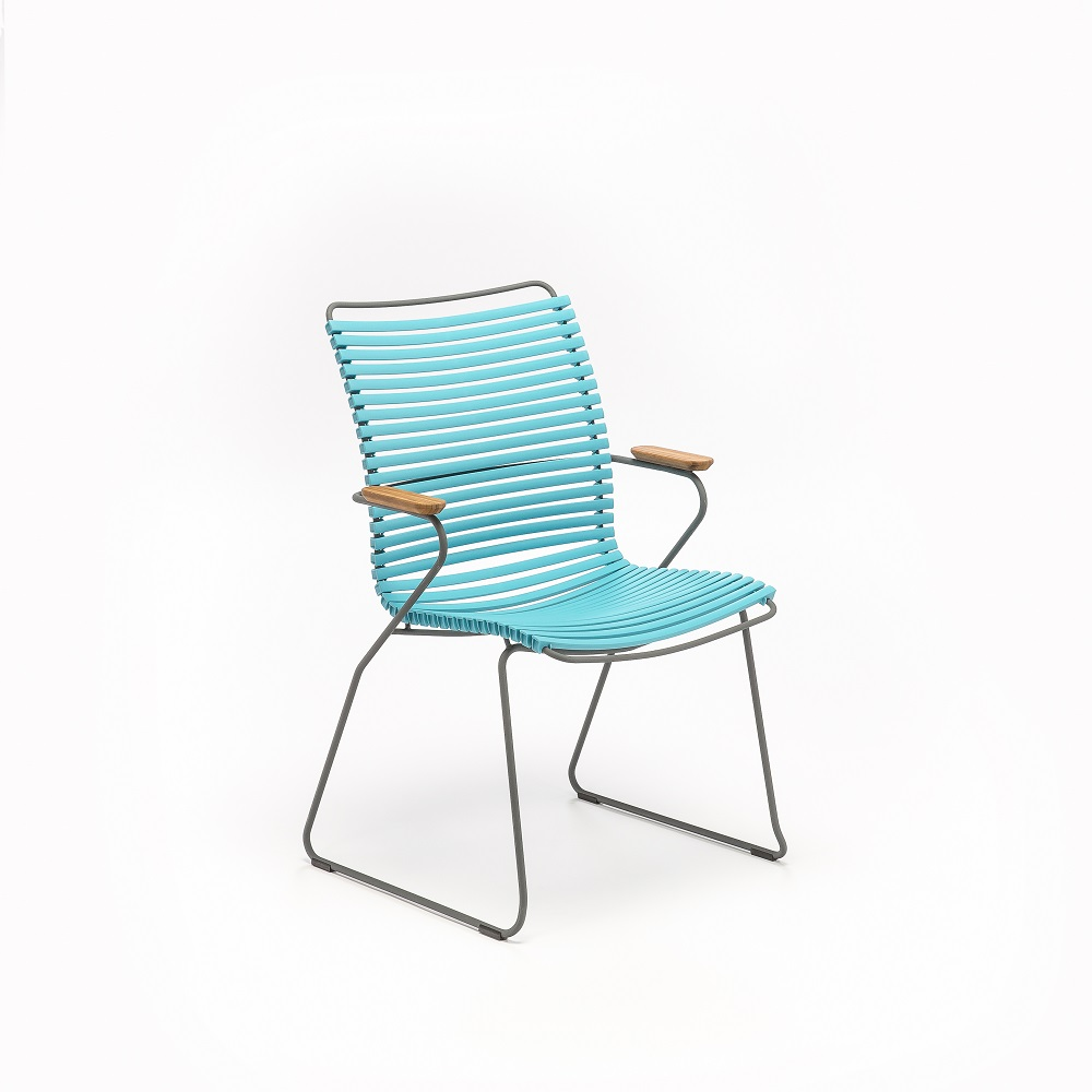 DINING CHAIR TALL BACK // Turquoise