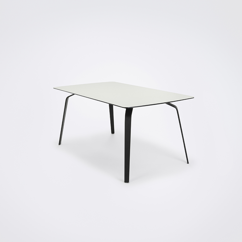 DINING TABLE 160cm // White Laminate