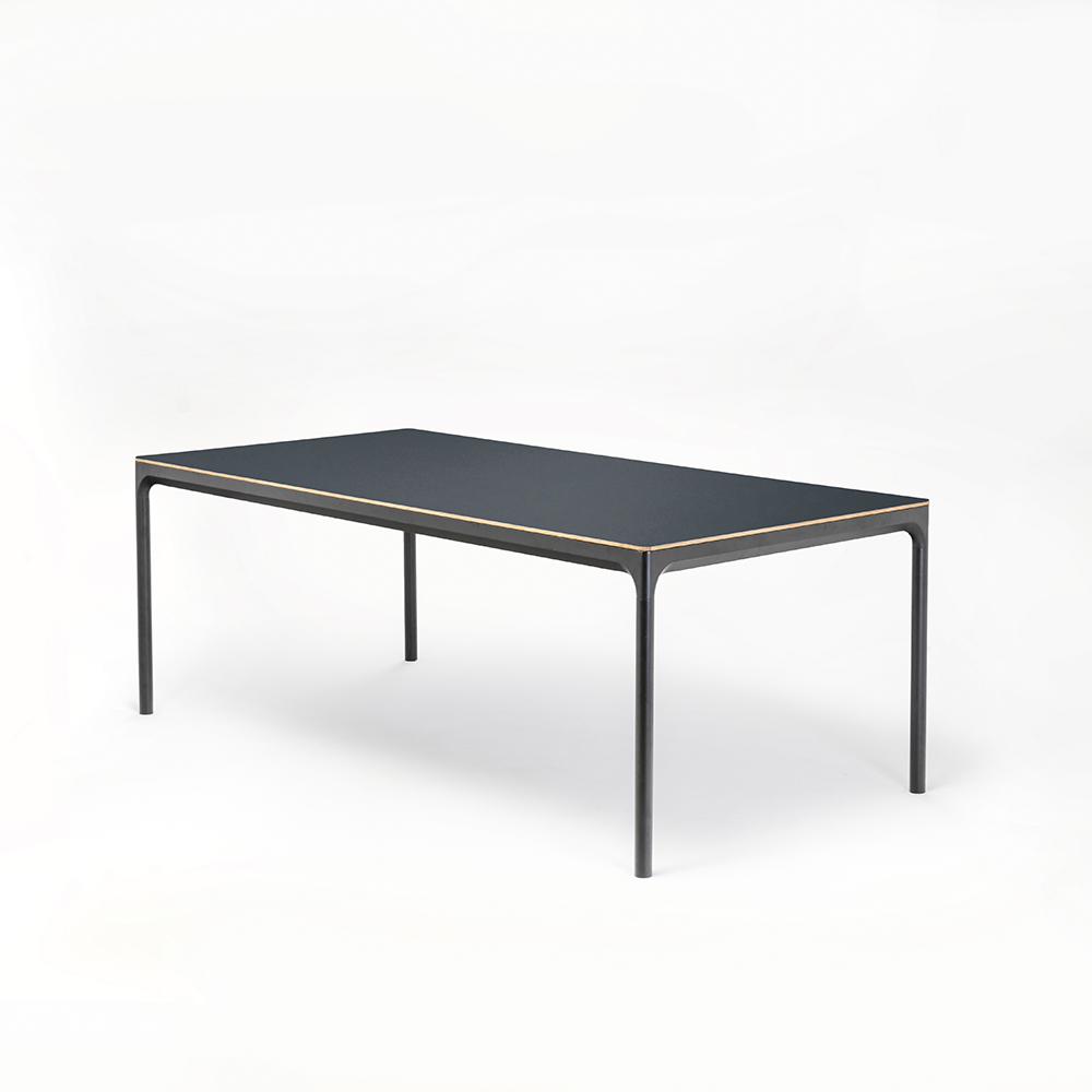 DINING TABLE 205cm // Smokey Blue Linoleum // Oak Edge