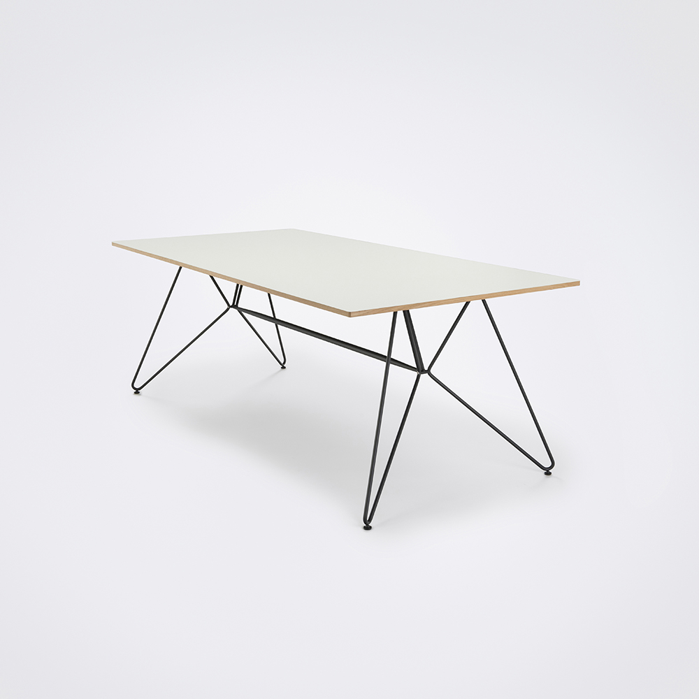 DINING TABLE 205cm // White Laminat // Oak Edge