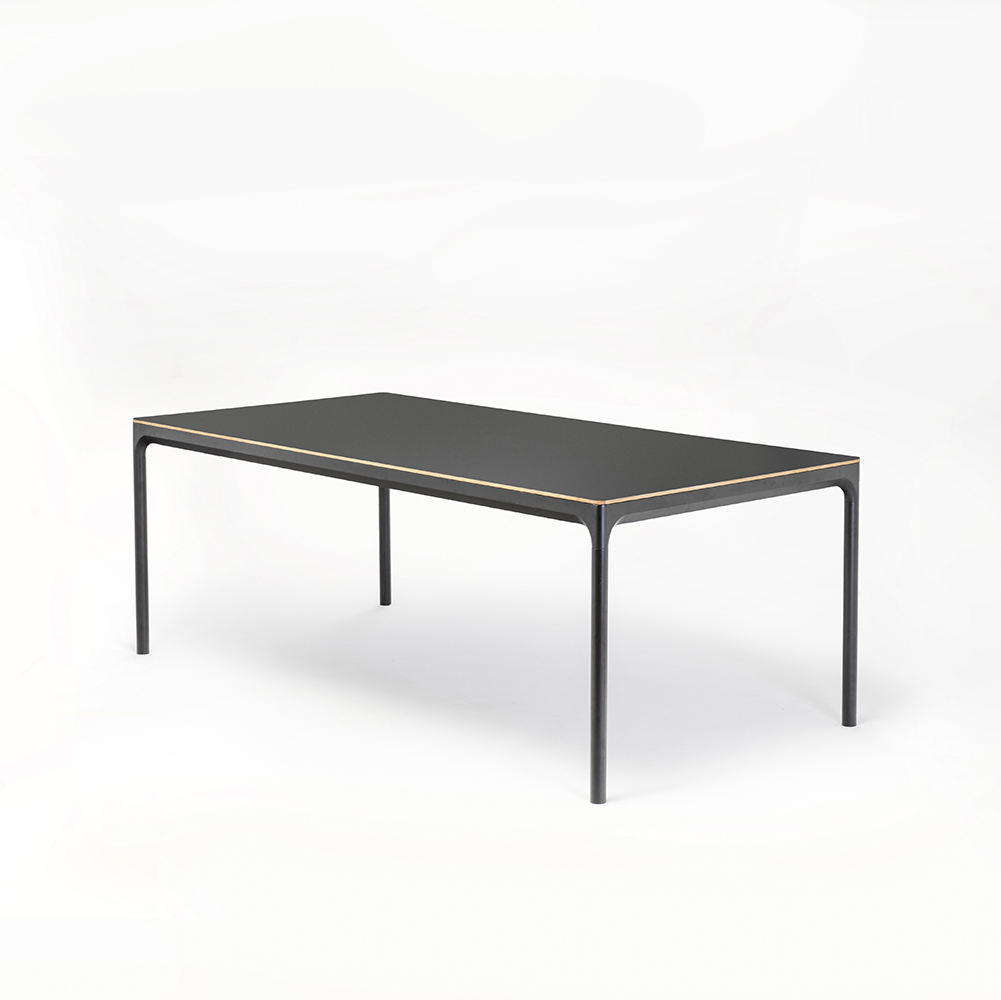 DINING TABLE 205cm // Dark Grey Laminate // Oak Edge