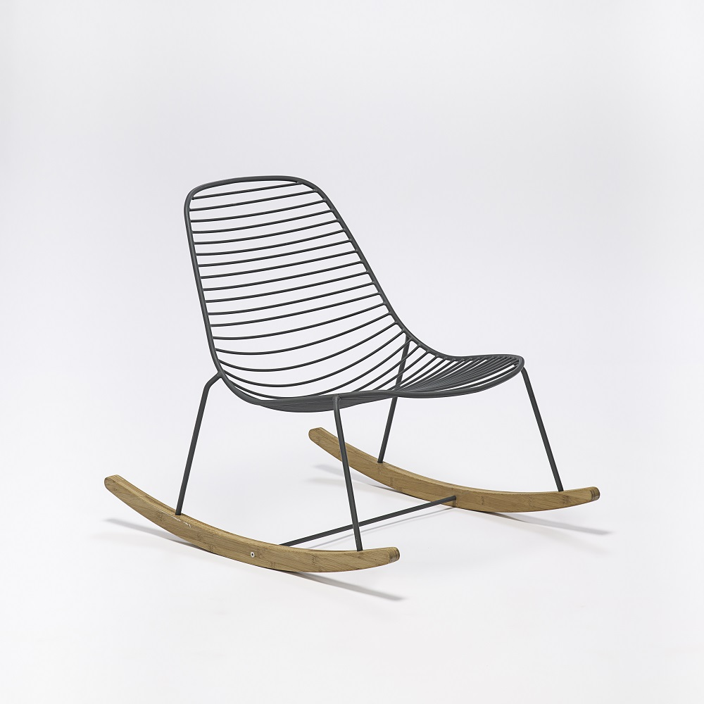 ROCKING CHAIR // Dark gray metal