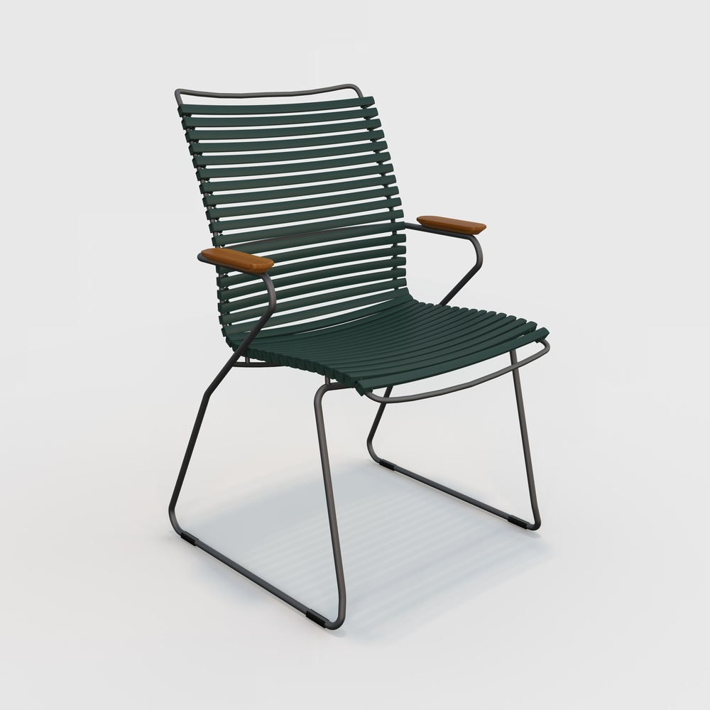 DINING CHAIR TALL BACK // Pine green