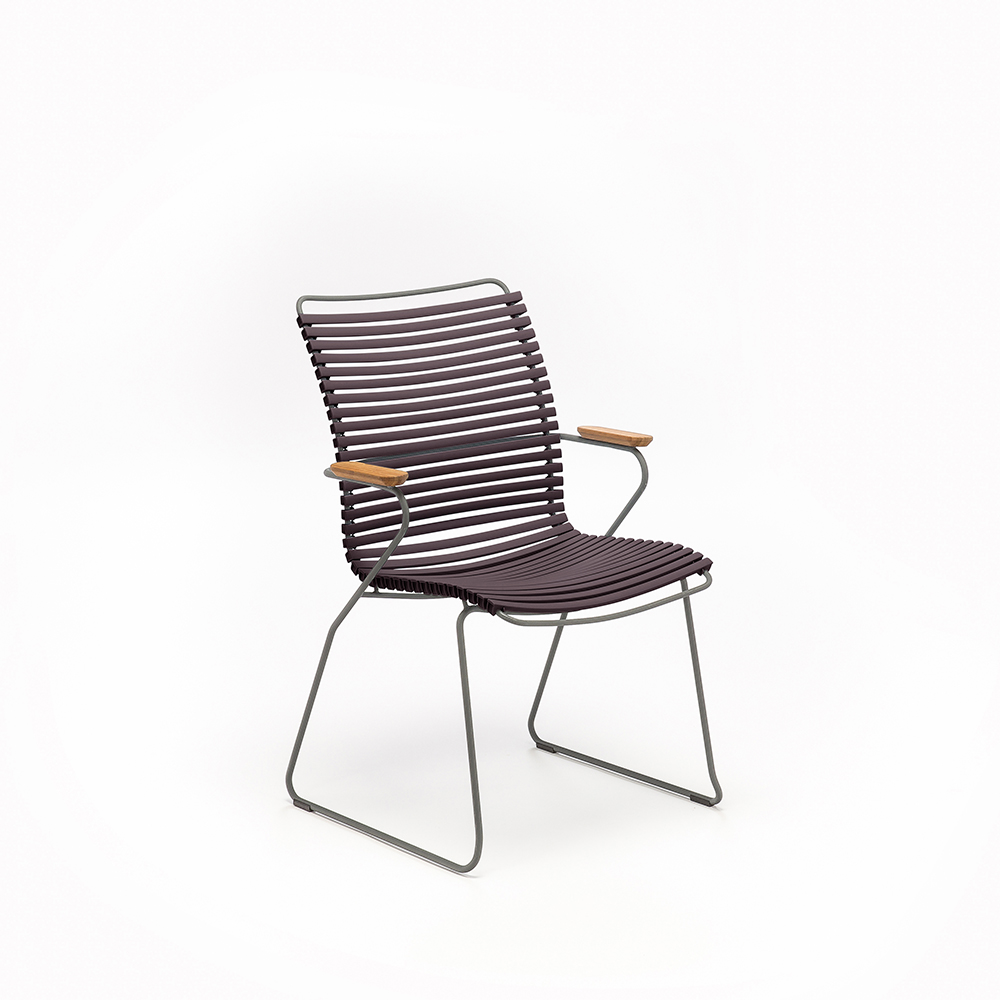 DINING CHAIR TALL BACK // Plum