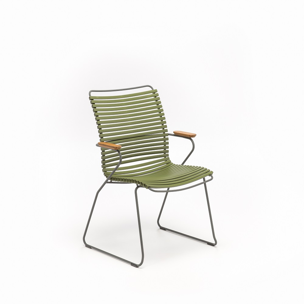 DINING CHAIR TALL BACK // Olive Green