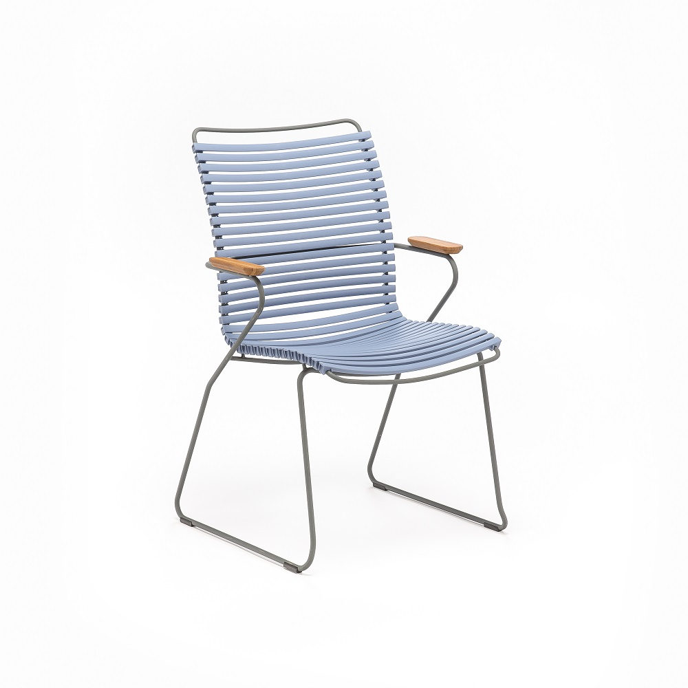 DINING CHAIR TALL BACK // Pigeon Blue