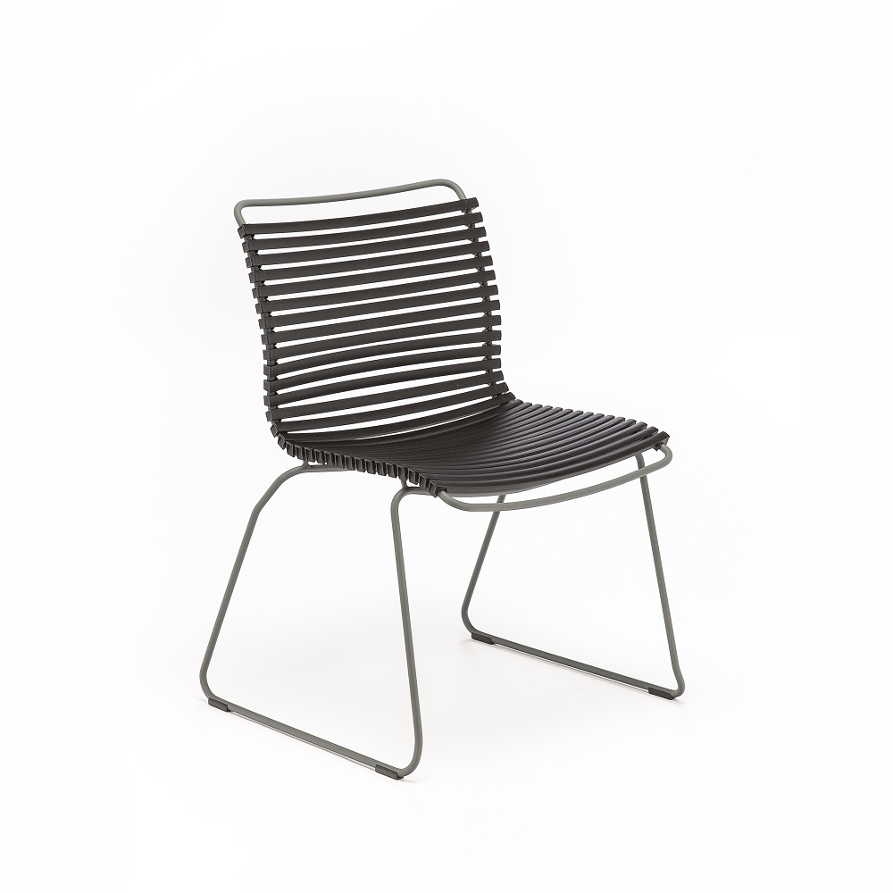 DINING CHAIR NO ARMRESTS // Black