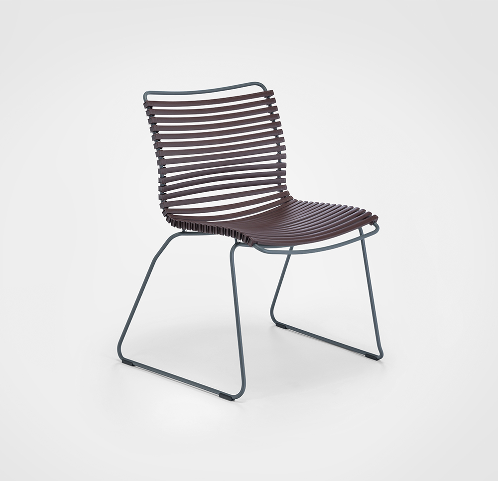 DINING CHAIR NO ARMRESTS // Plum