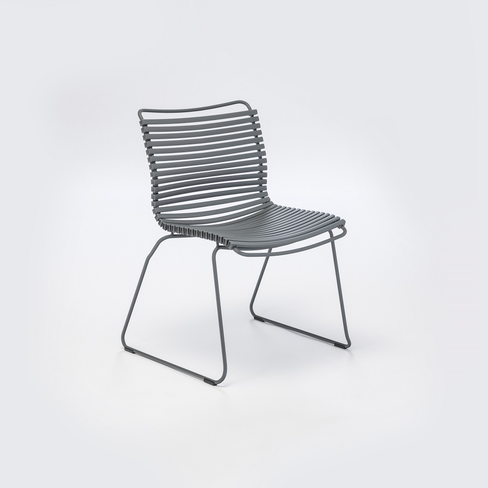 DINING CHAIR NO ARMRESTS // Dark Gray
