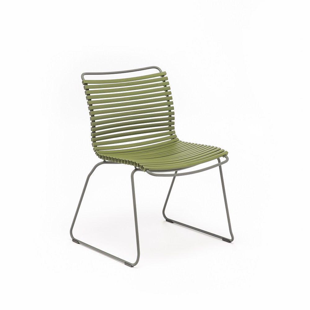 DINING CHAIR NO ARMRESTS // Olive Green