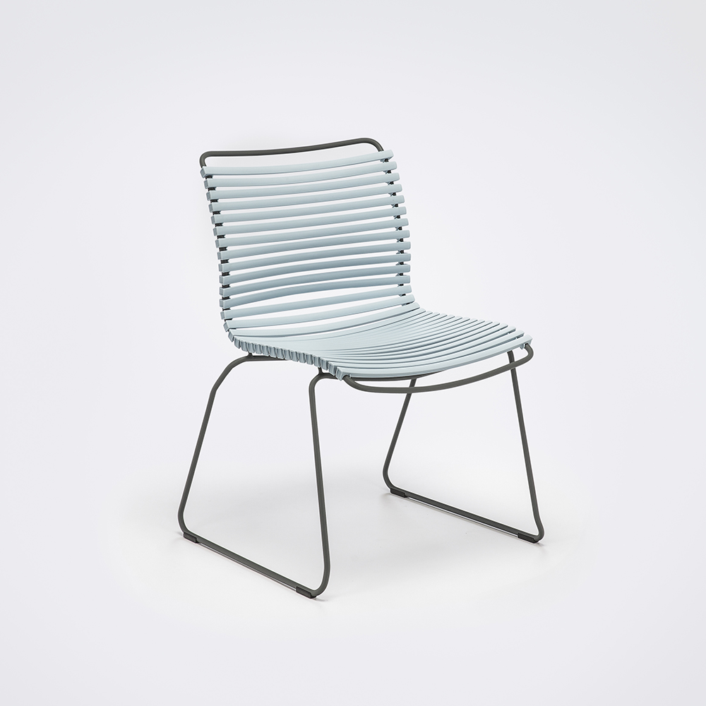 DINING CHAIR NO ARMRESTS // Dusty Light Blue