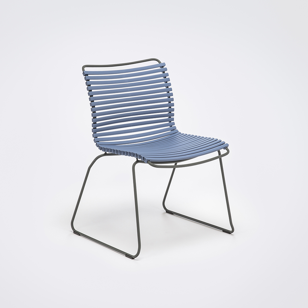 DINING CHAIR NO ARMRESTS // Pigeon Blue