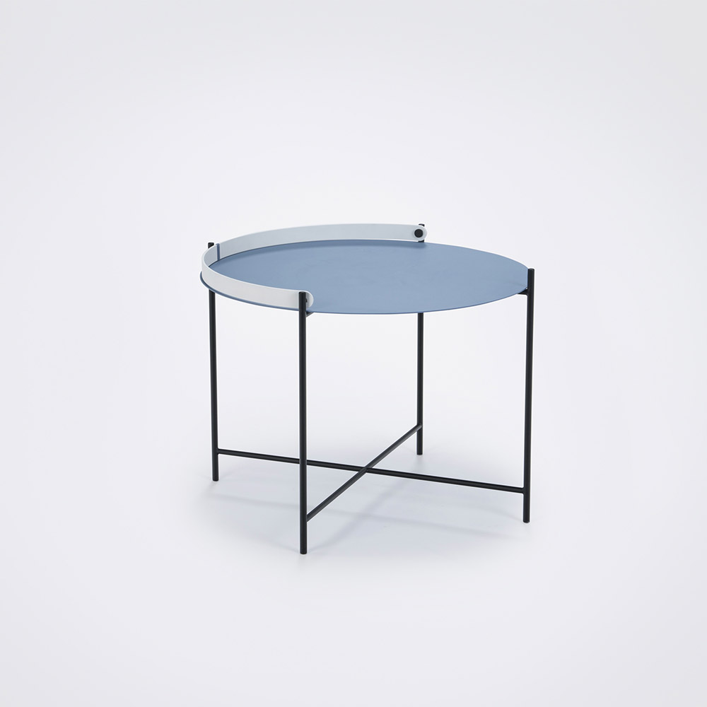 Tray table Ø62 // Pigeon blue