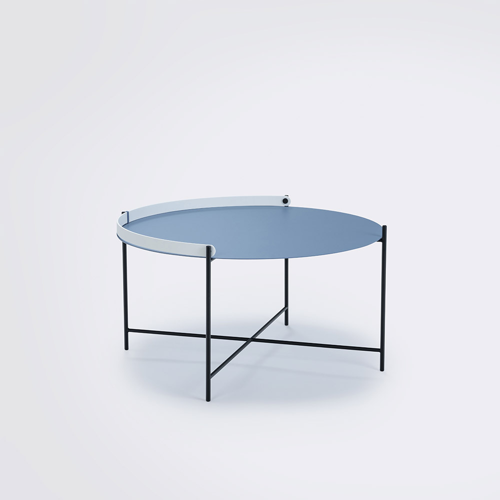 Tray table Ø76 // Pigeon blue