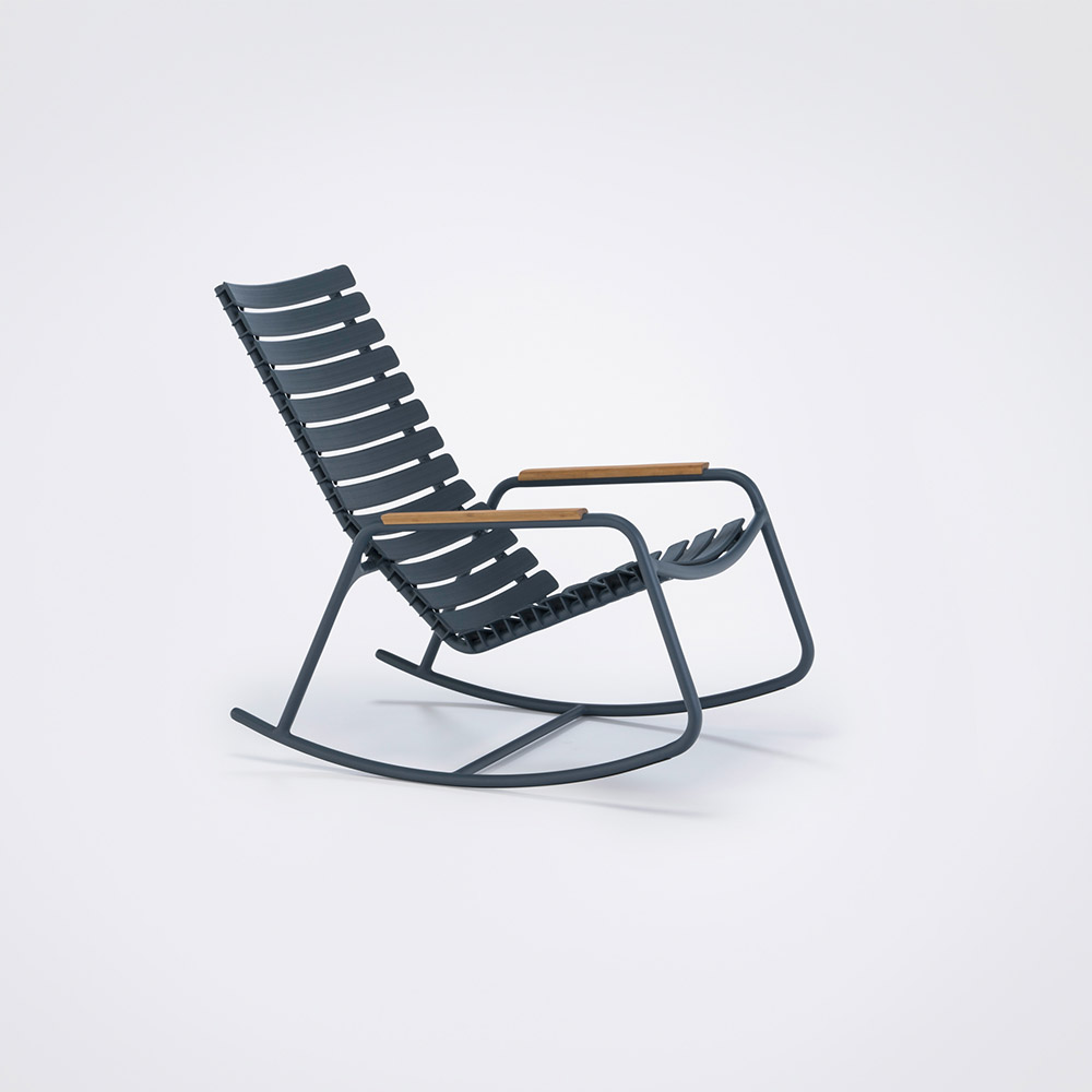 ROCKING CHAIR // Midnight blue // Bamboo armrests