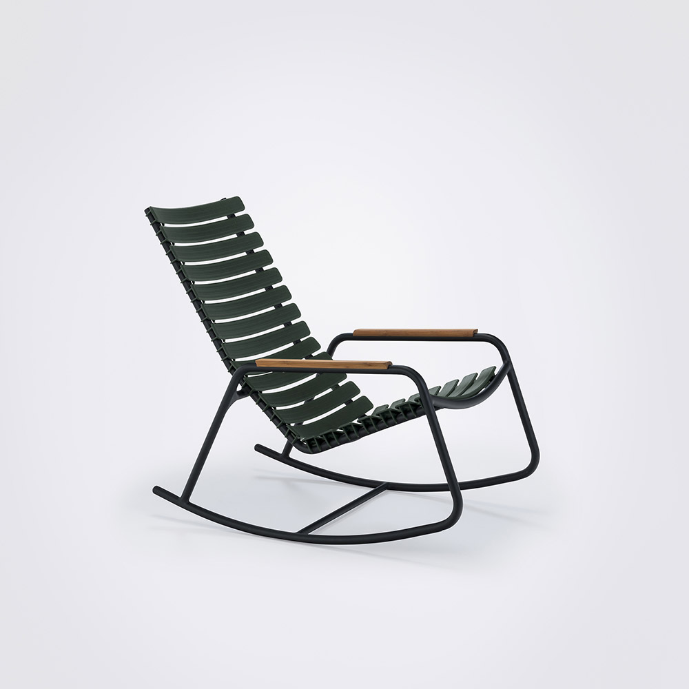 ROCKING CHAIR // Pine green // Bamboo armrests