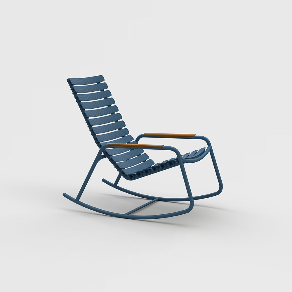 ROCKING CHAIR // Sky blue // Bamboo armrests