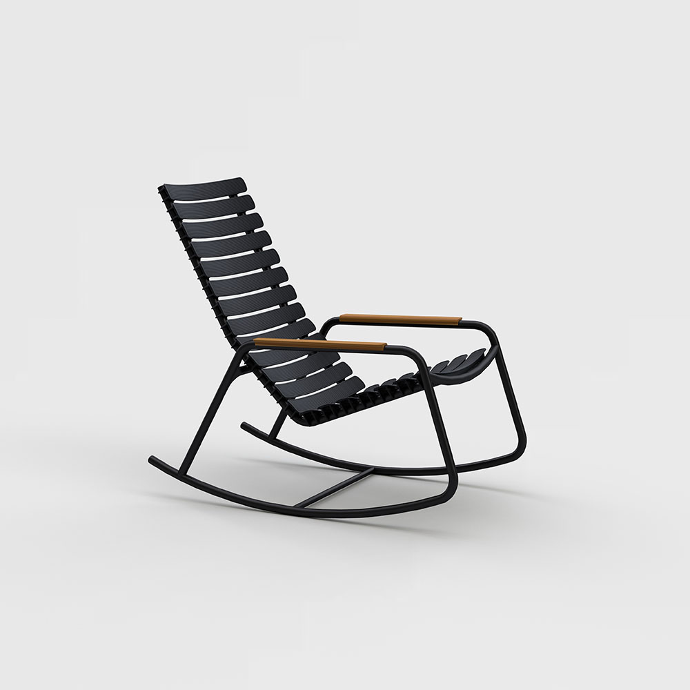 ROCKING CHAIR // Black // Bamboo armrests