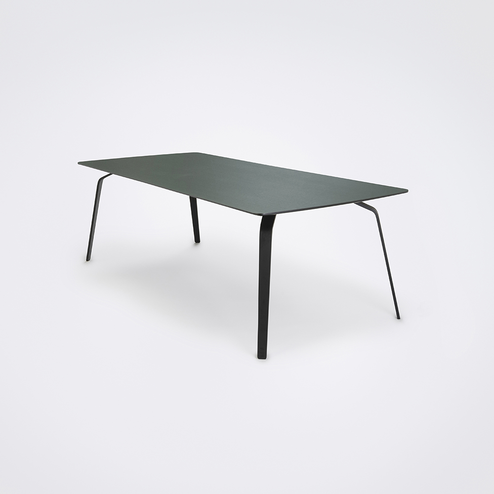 DINING TABLE 242cm // Dark Green Linoleum