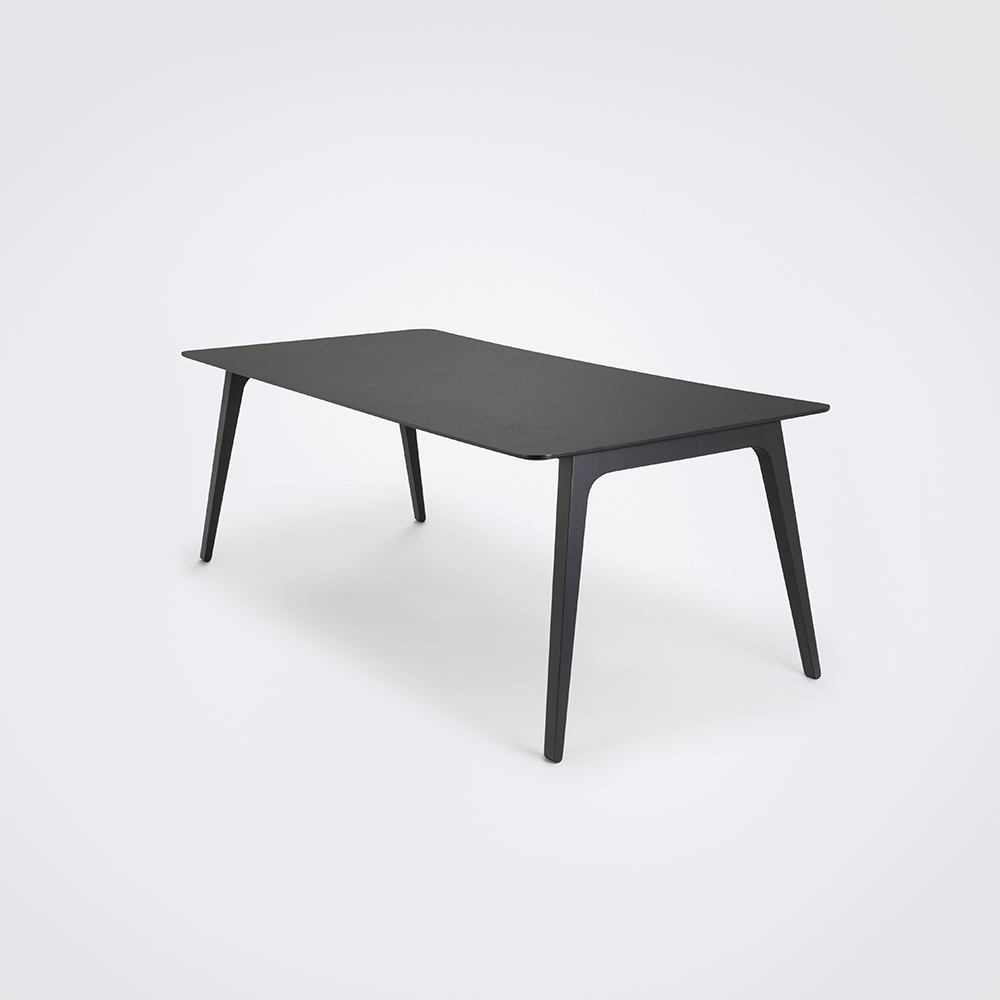 DINING TABLE 208cm // Black Linoleum // Black Edge