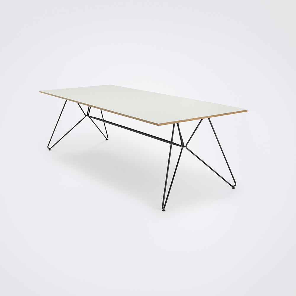DINING TABLE 240CM // White Laminate