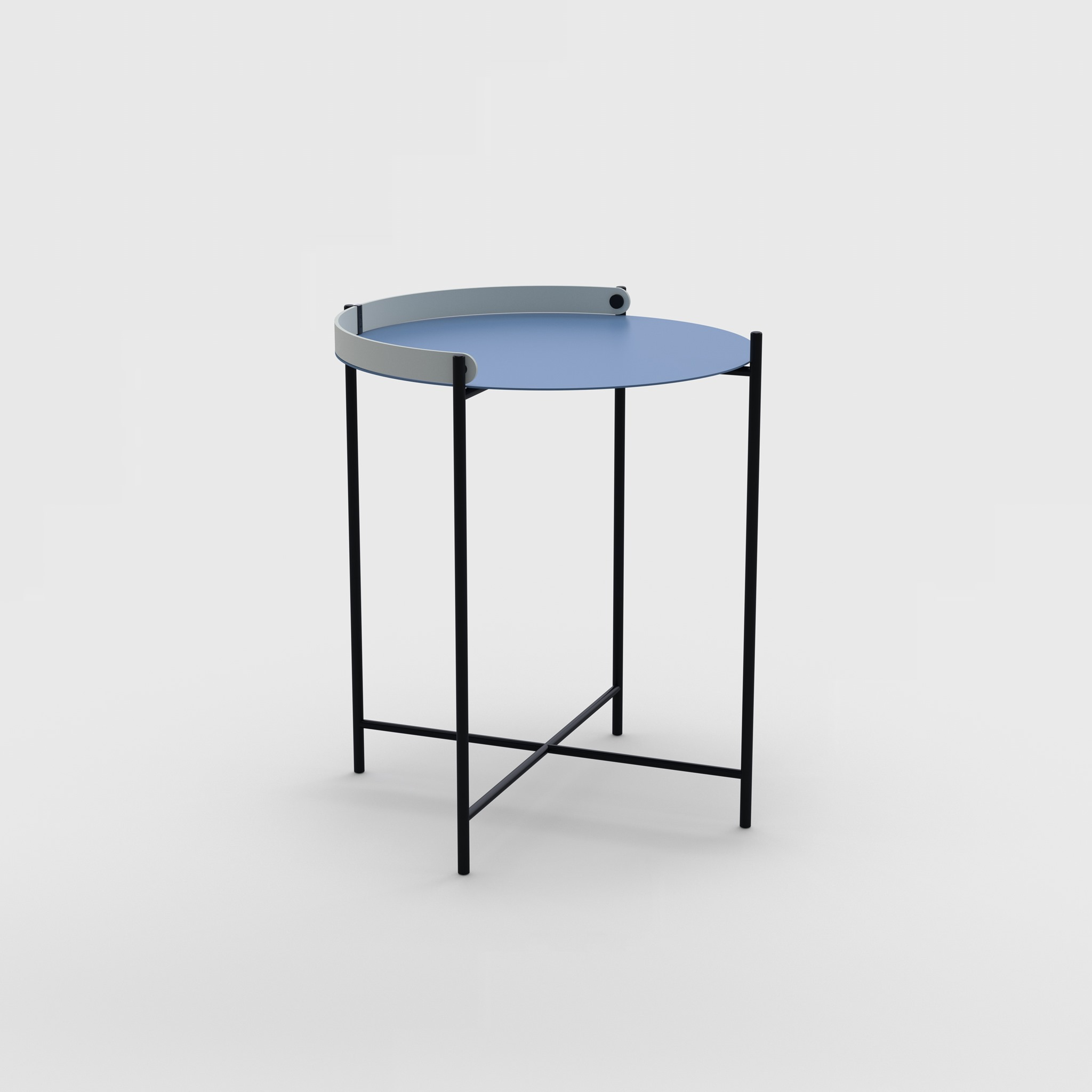 Tray table Ø46 // Pigeon blue