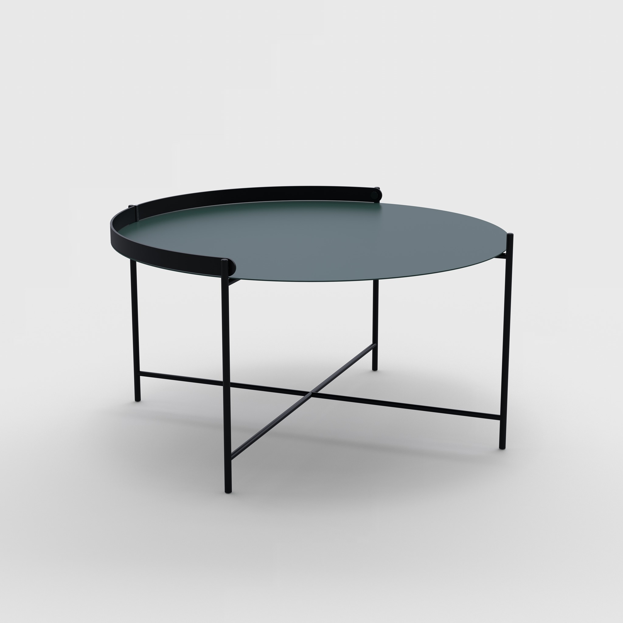 Tray table Ø76 // Pine green