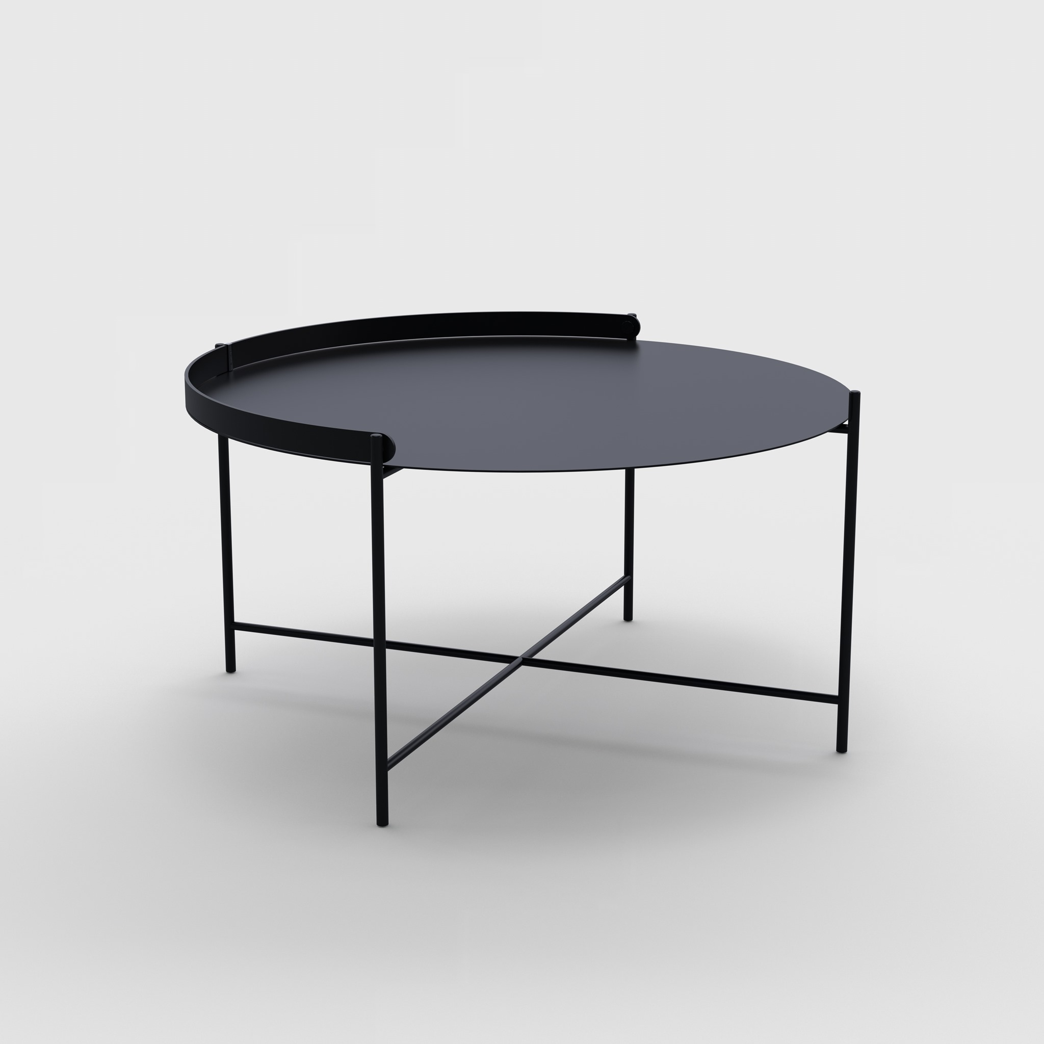 TRAY TABLE Ø76 // Black