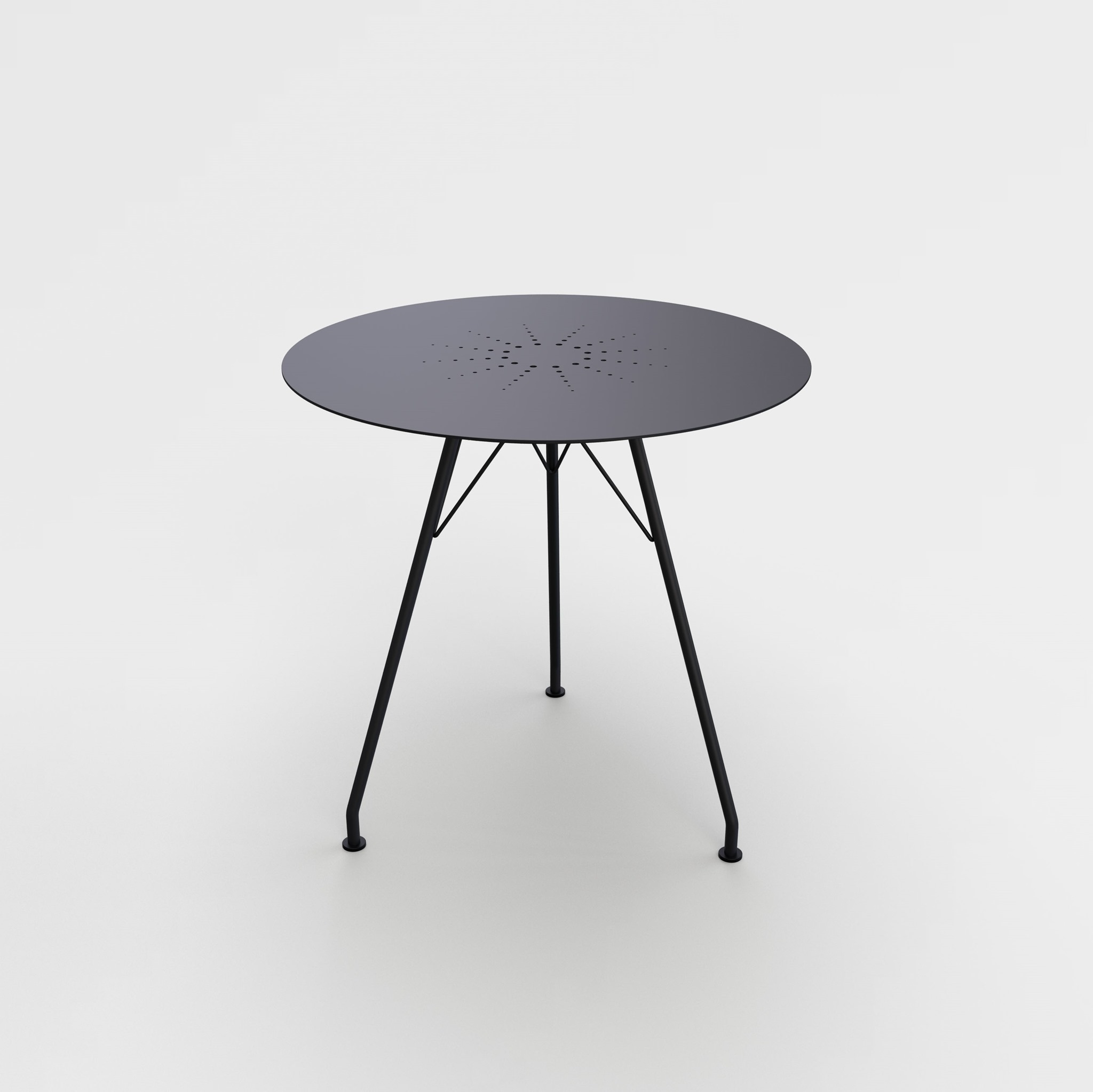 CAFE TABLE Ø74 cm // Black steel